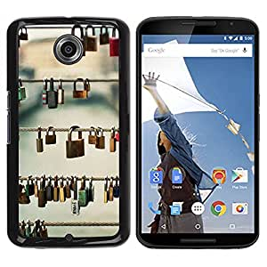 Paccase / SLIM PC / Aliminium Casa Carcasa Funda Case Cover para - Metaphor Deep Meaning Prague Love - Motorola NEXUS 6 / X / Moto X Pro