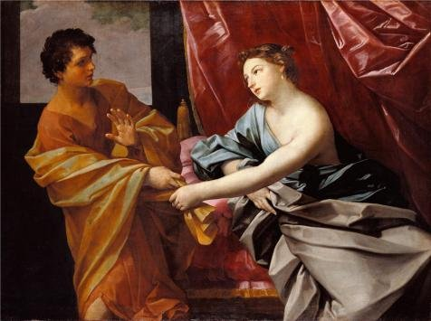[The Polyster Canvas Of Oil Painting 'Joseph And Potiphar's Wife, About 1630 By Guido Reni' ,size: 12x16 Inch / 30x41 Cm ,this Art Decorative Canvas Prints Is Fit For Kids Room Gallery Art And Home Gallery Art And] (Potiphar Costume)