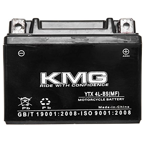 KMG Yamaha 125 TTR125E/LE Electric Start 2003-2007 YTX4L-BS Sealed Maintenace Free Battery High Performance 12V SMF OEM Replacement Maintenance Free Powersport Motorcycle ATV Scooter Snowmobile KMG