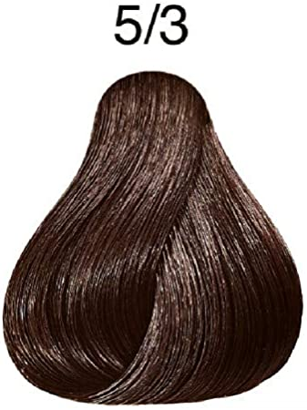 Wella Professionals Koleston - Tinte para cabello (60 ml), 5/3 castaño dorado claro