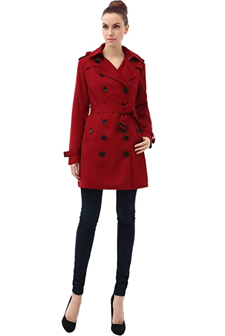 a1a17a31ff BGSD Women's Leah Hooded Mid Length Trench Coat