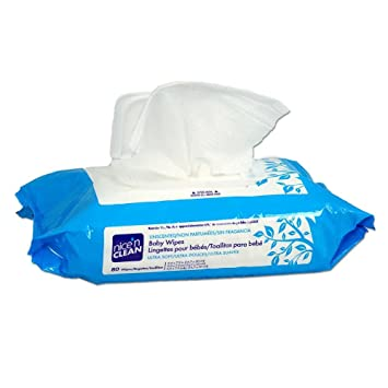 PDI M233XT Nicen Clean Ultra Soft Baby Wipes Unscented Solo Pak with Aloe and