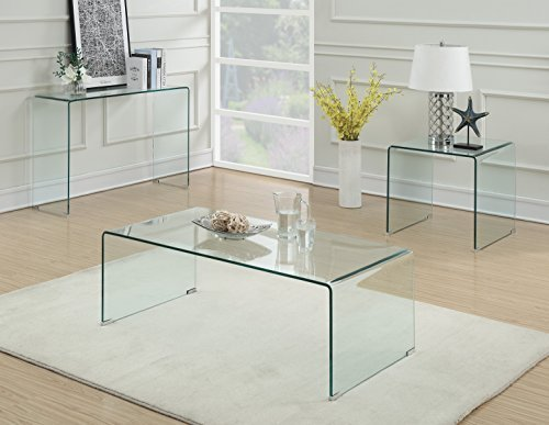 Coaster Home Furnishings 705328 Coffee Table Clear