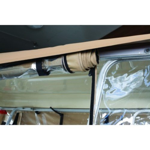 Classic Accessories Fairway Deluxe 4-Sided 4-Person Golf Cart Enclosure, Tan by Classic Accessories (Image #2)