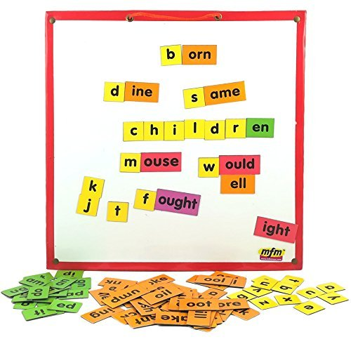 Word Families Magnetic Tiles - MFM TOYS English Language Word Family Kit (Vocabulary Enhancing) 94 Magnetic Tiles (Does not include magnetic board)
