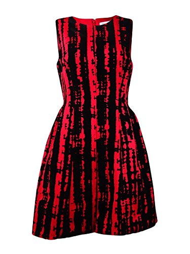 Calvin Klein Pleated Neckline Dress - Calvin Klein Womens Velvet Pleated Party Dress Red 8