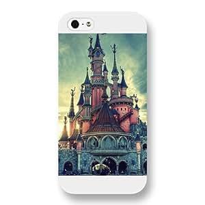 Customized White Hard Plastic Disney Castle iPhone 5 5s case
