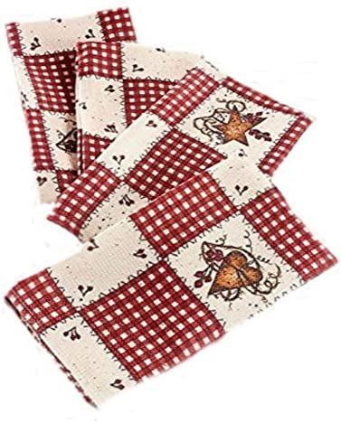 Linda Spivey Kitchen Decor Table Cloth Linens Primitive Country Hearts Stars Tablecloth Or Napkins Collection Set Of 4 Amazon Sg Home