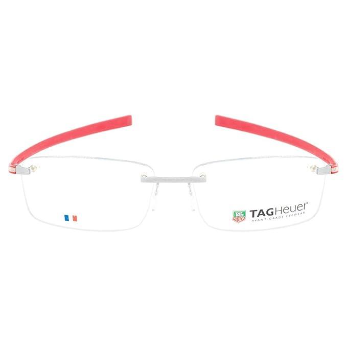 f421b547e0 TAG Heuer Designer Reflex 3442 006 Rimless Red Rx Prescription Eyeglasses  Frame  Amazon.ca  Clothing   Accessories
