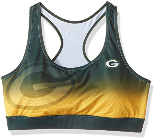 d3046930 Green Bay Packers Gradient Sports Bra Extra Small