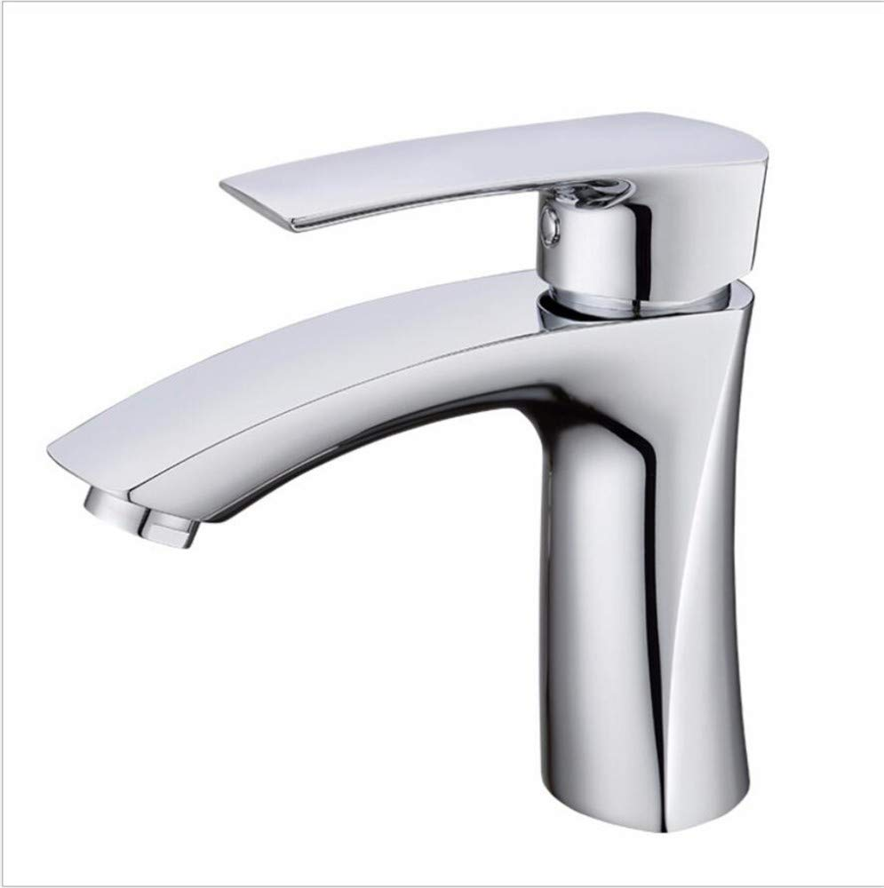 Bathroom Sink Basin Lever Mixer Tap Copper Mixed Water Washing Pan Faucet
