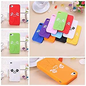 Mini - Cute Cartoon Cat Pattern Silicone Soft Case for iPhone 4/4S , Color: Black