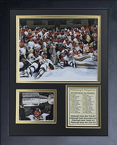 Legends Never Die Pittsburgh Penguins 2016 NHL Champions Celebration Framed Photo Collage, 11 x 14-Inch