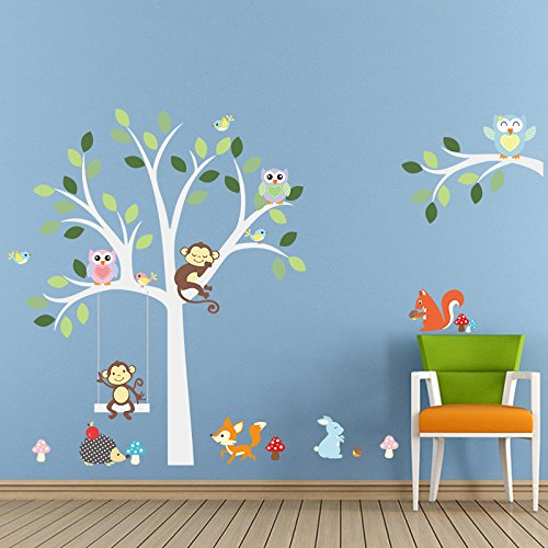 ElecMotive Cartoon Forest Animal Monkey Owls Fox Rabbits Hed