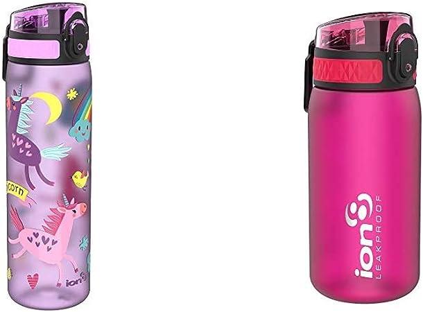 Bpa Libre Ion8-Leak Proof 1 L Sports bouteille d/'eau Rose