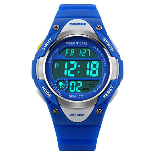 Kids Outdoor Sport Watch Waterproof Swimming Led Digital Wrist Watches,Alarm Back Light Boys Girls 5+ Years Old,Children's Best Gift