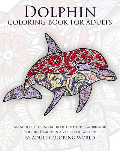 Dolphin Coloring Book Adults Featuring product image