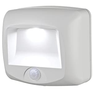 Mr. Beams MB530 Wireless Battery-Operated Indoor/Outdoor Motion-Sensing LED Step/Stair Light, White