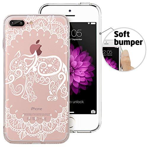 iPhone 8 Plus Case, iPhone 7 Plus Case, Doramifer Maya Series Protective Case [Anti-Slip] [Good Grip] Aesthetic 3D Print Soft Back Cover iPhone 8 Plus/iPhone 7 Plus (Elephant)