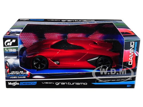 New 1:32 W/B MAISTO GAMING COLLECTION - 2020 Nissan Concept Vision Gran Turismo Red Diecast Model Car By Maisto (Cheese Vision)