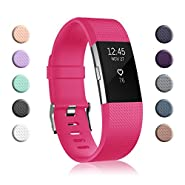 Fundro Replacement Bands Compatible with Fitbit Charge 2, Classic & Special Edition Adjustable Sport Wristbands