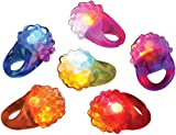 Flashing Led Bumpy Ring (Pack of 12)