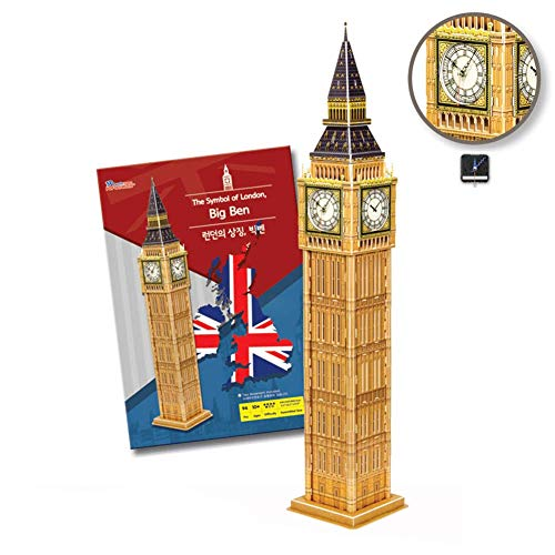 POP-OUT WORLD 3D Puzzles World Famous Architecture Model Building Kit Series for Adults and Kids (Big Ben)