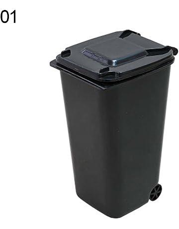 Steellwingsf - Cubo de basura para guardar papeleras y bolígrafos, diseño creativo 01 negro