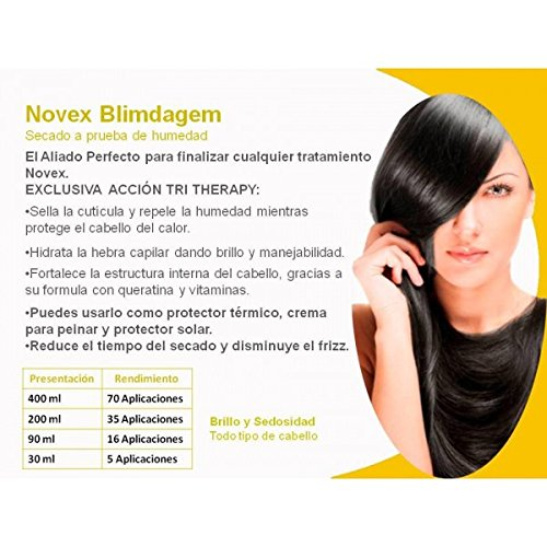 Amazon.com : NOVEX BLINDAGEN BRAZILIAN Protector Térmico para el Cabello 400 gr : Everything Else