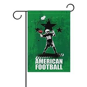 Doble cara reproductor de fútbol americano poliéster casa jardín bandera Banner 12x 18/28x 40pulgadas para todo tipo de clima para boda fiesta