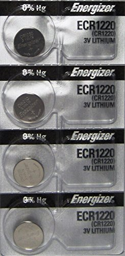 4 Energizer CR 1220 3 v Lithium Watch 0%Hg Mercury Free Batteries
