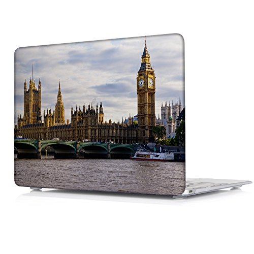 Batianda MacBook Pro 13 Case 2017 & 2016 Release Famous scenic Big Ben Pattern Design Cover Sleeve for Latest MacBook Pro 13.3 inch with/without Touch Bar (Model: A1706 and - 2017 Models Famous