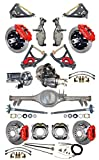 NEW SUSPENSION & BRAKE SET WITH CURRIE REAR END, AXLES, POSI-TRAC GEAR, DROP SPINDLES, WILWOOD 13''/12'' DISC BRAKES, RED CALIPERS, CYLINDER, BOOSTER, ARMS 59-64 CHEVY IMPALA BEL AIR BISCAYNE BROOKWOOD
