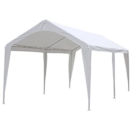 Abba Patio 10 x 20-Feet Outdoor Carport Canopy with 6 Steel Legs White  sc 1 st  Amazon.com & Amazon.com: Abba Patio 10 x 20-Feet Outdoor Carport Canopy with 6 ...
