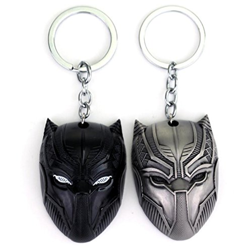 2 Pack Black Panther Key Chain Game Movie Flim Metal Mask Souvenir Gifts for kids