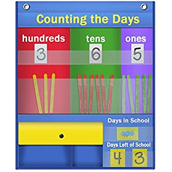 Amazon com godery counting caddie pocket chart place value