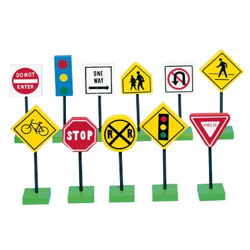 (Miniature Toy International Signs for Kids Block Play)