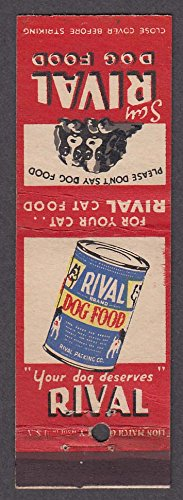 (Rival Dog Food advertising matchcover)