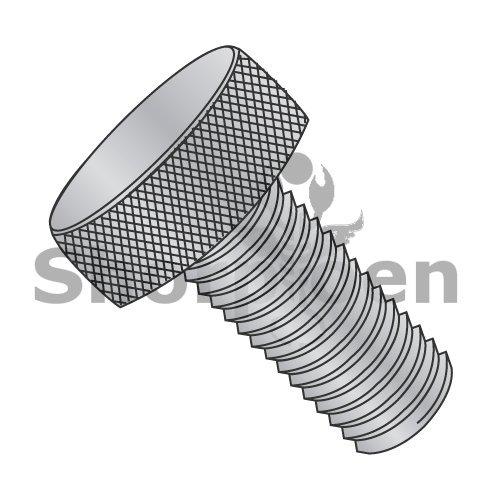 Knurled Thumb Screw Fully Threaded Aluminum 8-32 x 3/8 (Box of 100) weight0.26Lbs