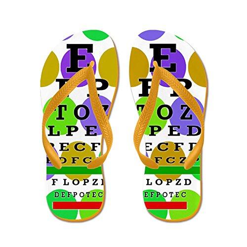 Cafepress Eye Chart Ff 9.png - Flip Flops, Grappige String Sandalen, Strand Sandalen Oranje
