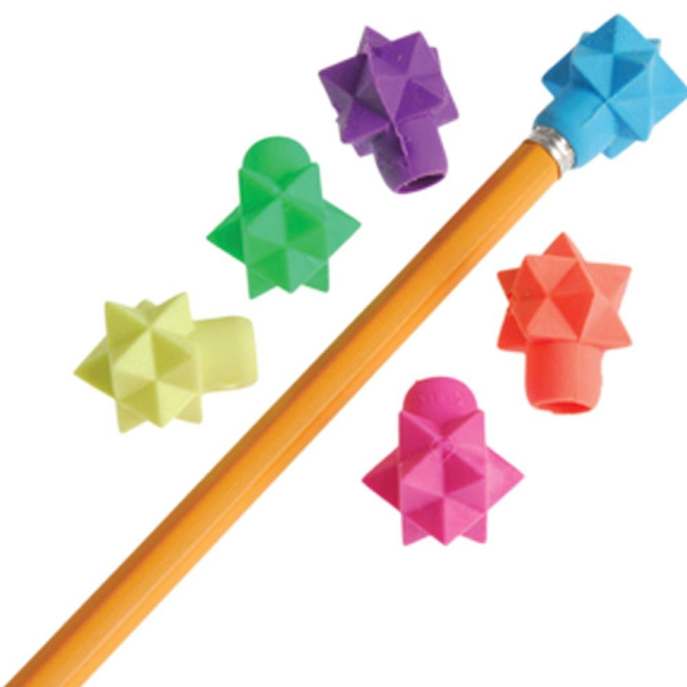 US Toy Assorted Color 3D Star Design Pencil Toppers Everready First Aid USTVL190 Lot of 48