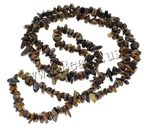 Calvas New Semi-Precious Tiger Eye Beads DIY Jewelry Findings Beads 5-8mm Freeform Shape Gem Stone Chip Loose Beads 260PCs/Strand