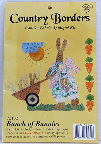 Country Borders Iron-On Fabric Applique Kit (#72132 Bunch of Bunnies)