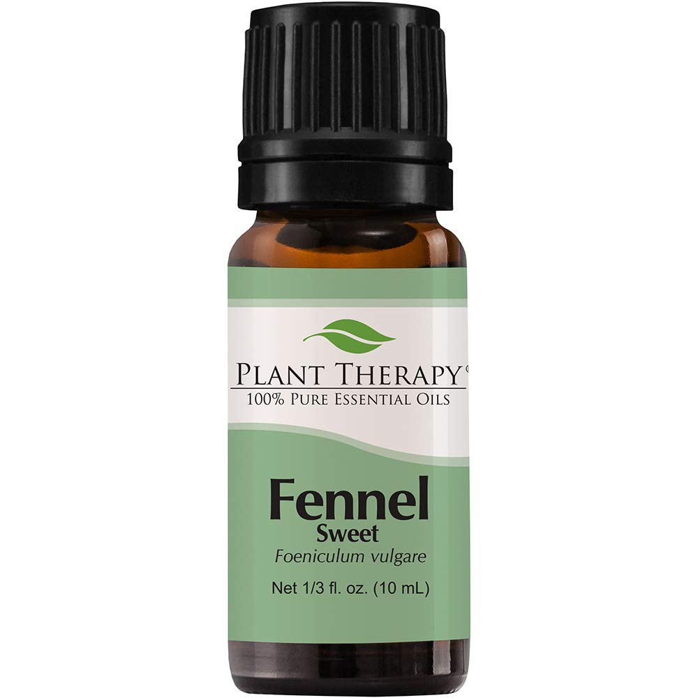 Plant Therapy Fennel (Sweet) Essential Oil 10 mL (1/3 oz) 100% Pure, Undiluted, Therapeutic Grade