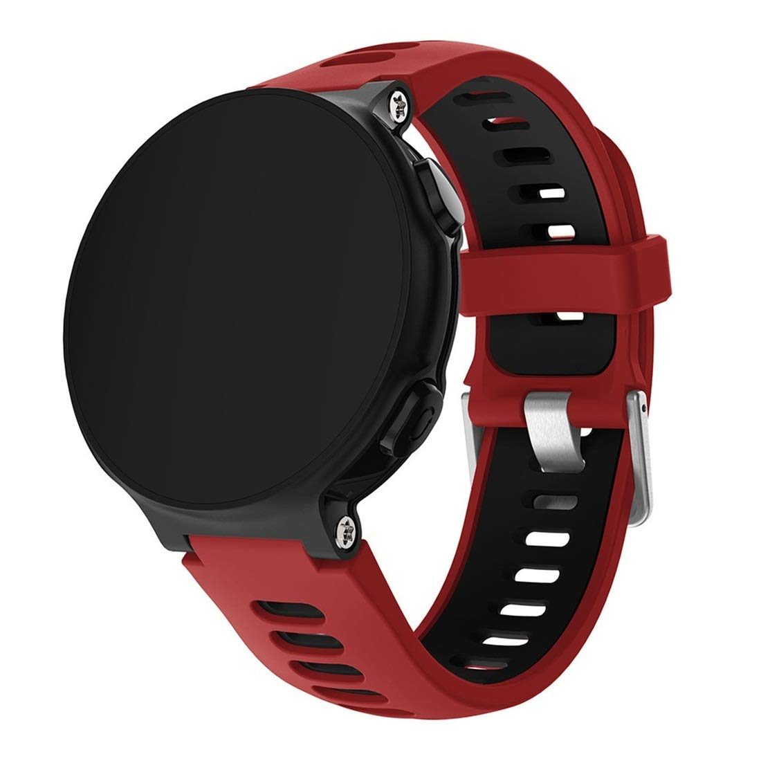 Smart Watch Silicone Wrist Strap Watchband for Garmin Forerunner 735XT Premium Quality (Color : Red) by GuiPing
