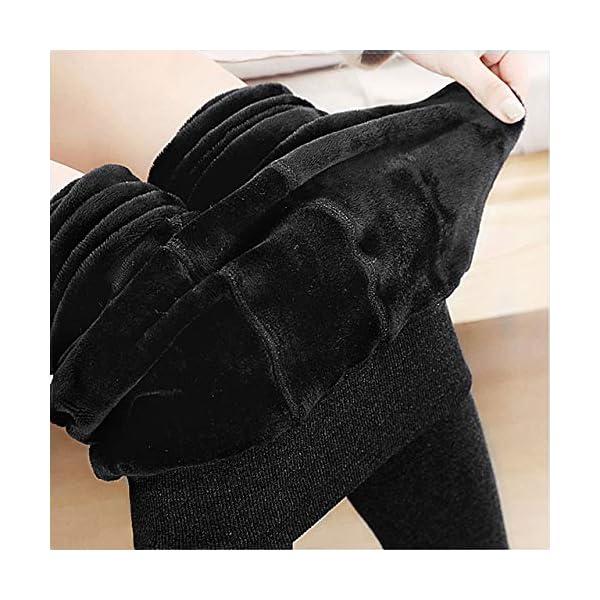 Emooqi Legging Long d'hiver pour Femme, Lot de 2 Leggings Taille Haute, Legging Chaud et Doux avec Doublure Polaire…