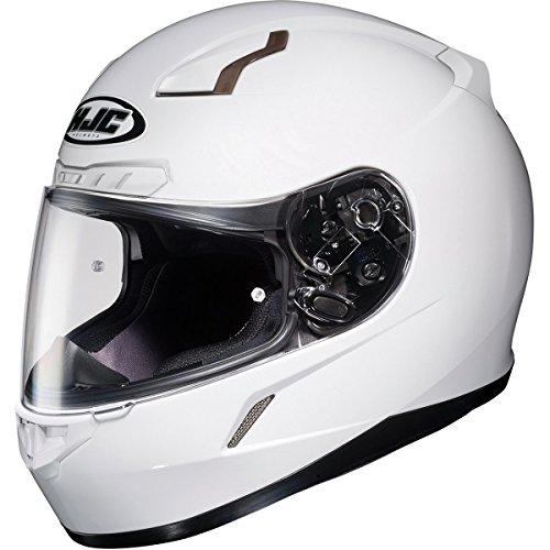 HJC Solid Mens CL-17 Full Face Motorcycle Helmet - White / Medium