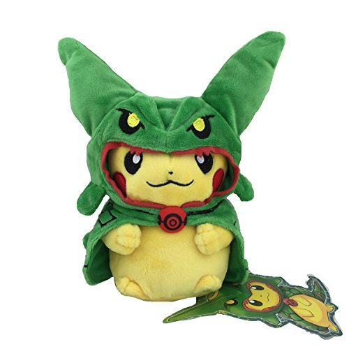 Generic Rayquaza Poncho Pikachu Pokemon 2016 Skytree Town Plush Toy Stuffed Animal Soft Figure Doll 8