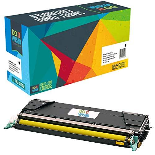 Do it Wiser Compatible C746A1YG Toner for Lexmark X746de C746 C748 X748de C748de C746dn XS748de X748 X746 C746n C748de 748de (Yellow)
