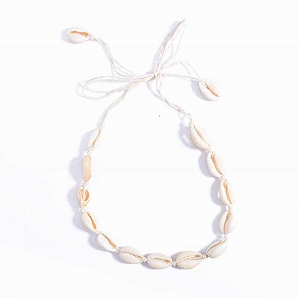 Scelet Damen Strand Bohemian Shell Halskette National Art Seaside Handmade einfache Kurze Anh/änger